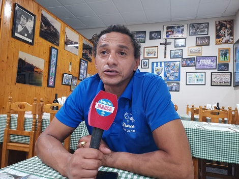 Darío Silva en una entrevista con Radio MARCA Málaga