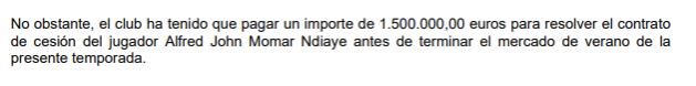N'Diaye pago por cesión