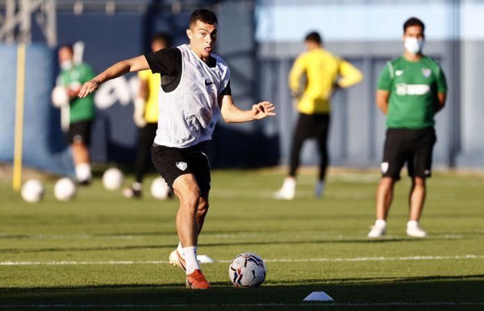 Rahmani en un entrenamiento del Málaga