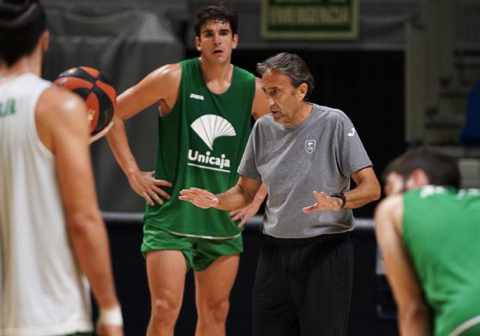 Casimiro y Carlos Suárez entrenamiento Unicaja
