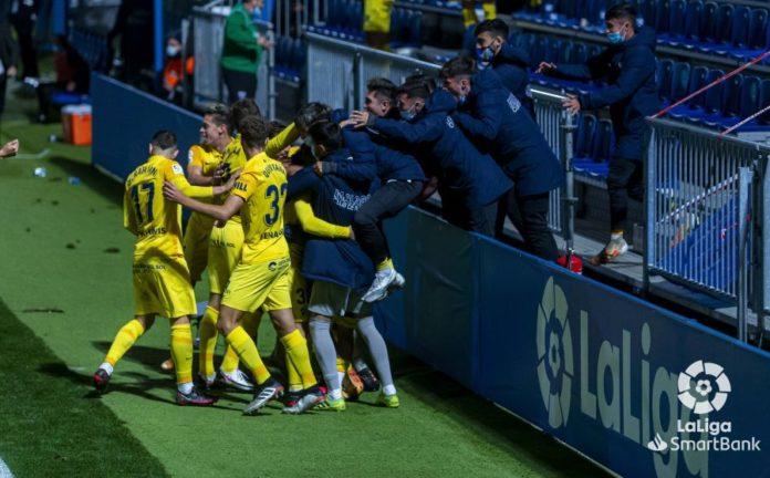 Así se celebró el segundo gol del Málaga en Fuenlabrada