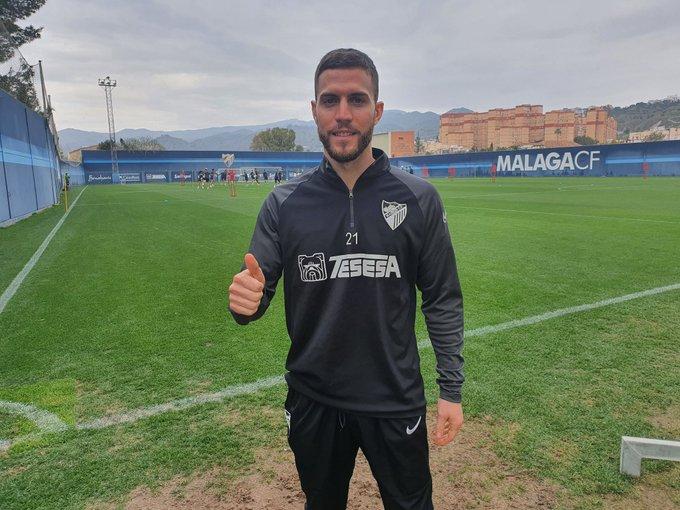 Iván Calero entrenamiento Málaga