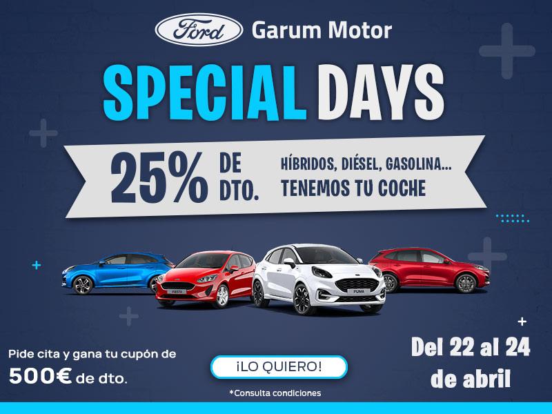 banner ford garum special days descuento