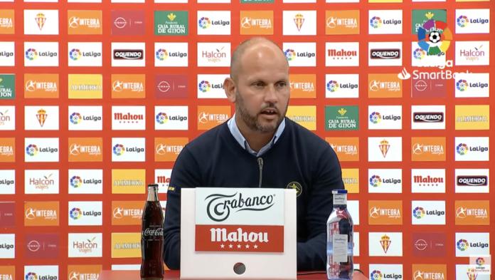 José Alberto, en la rueda de prensa posterior al encuentro frente al Sporting