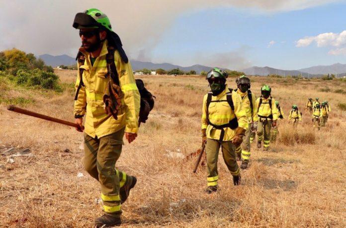 Dado de alta el segundo bombero herido en el incendio de Sierra Bermeja
